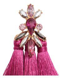 H&M - Pink Tasselled Earrings - Lyst