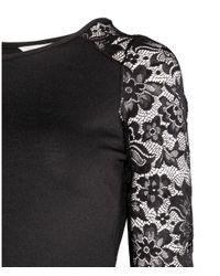 H&M - Black Mama Jersey Dress - Lyst