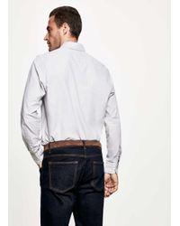 Hackett - Gray Melange Stripe Shirt for Men - Lyst