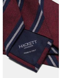 Hackett - Red Striped Wool And Silk Tie for Men - Lyst