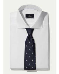 Hackett | Blue Pine Motif Tie for Men | Lyst