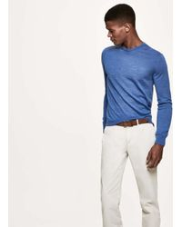 Hackett - Blue Elbow-patch Wool Sweater for Men - Lyst