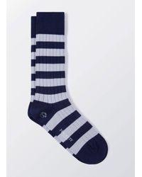 Hackett | Blue Inch Stripe Socks for Men | Lyst