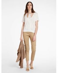 Halston | White Multi Strap Detail Knit Top | Lyst