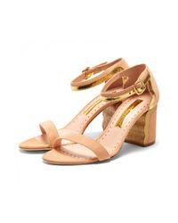 Simon Miller - Multicolor Ripple Sandal In Bone/gold - Lyst