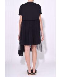 Simone Rocha - Three Tier Frill T-shirt Dress In Black - Lyst