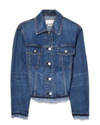 Rag & Bone - Blue Oversized Jacket In Fringed - Lyst