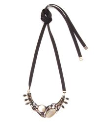 Marni - Metallic Strass Necklace In Pale Gold - Lyst