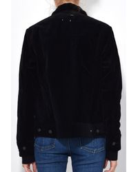Rag & Bone - Oversized Jacket In Black Velvet for Men - Lyst