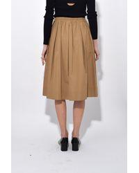 Aspesi - Brown Elastic Waistband Skirt In Tabacco - Lyst