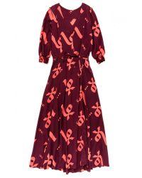 lemlem | Orange Adia Long Dress | Lyst