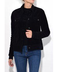 Rag & Bone - Oversized Jacket In Black Velvet for Men - Lyst