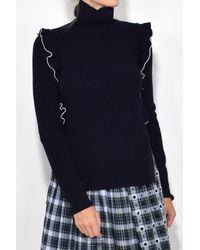 N°21 - Blue Turtleneck Sweater In Navy - Lyst