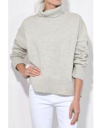 Nili Lotan - Gray Serinda Sweater In Light Grey Melange - Lyst