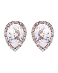 Susan Foster - Metallic Diamond And Topaz White Gold Earrings - Lyst