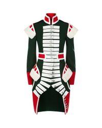 Burberry - Green Military Coat - Lyst