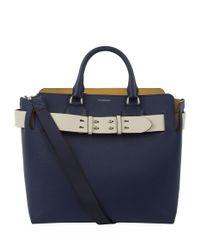Burberry Blue Medium Leather Belt Bag