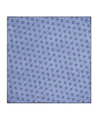 Canali - Blue Silk Floral Printed Pocket Square for Men - Lyst