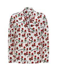 Sandro - Red Bessie Silk Sash Top - Lyst