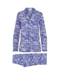 Derek Rose - Blue Animals Cotton Pyjamas - Lyst