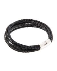 Tateossian | Black Multi-strand Cobra Bracelet for Men | Lyst