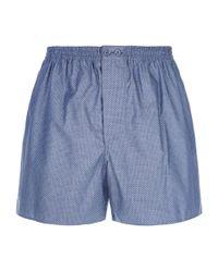 Zimmerli - Blue Honeycomb Print Boxer Shorts for Men - Lyst