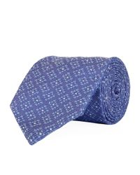 Eton of Sweden - Purple Diagonal Box Tie for Men - Lyst