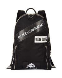 Lyst - Dolce   Gabbana Logo Backpack, White in White for Men 13b36fa17b