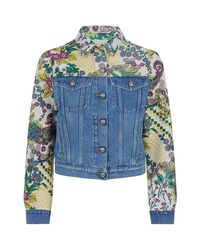 Etro - Blue Denim Jacket, Cream, It 48 - Lyst