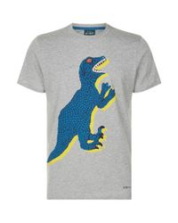 Paul Smith - Gray Dino Print T-shirt for Men - Lyst