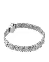 Carolina Bucci - Metallic White Gold Woven Bracelet - Lyst
