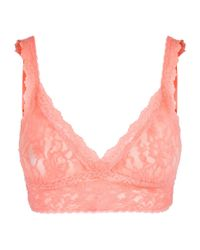 Hanky Panky - Pink Lace Crossover Bralet - Lyst