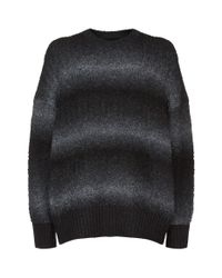 AllSaints | Black Ikarus Gradient Sweater for Men | Lyst