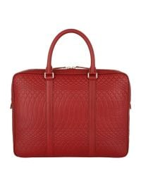 Paul Smith - Red No. 9 Print Laser-cut Briefcase for Men - Lyst