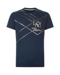 La Martina - Blue Graphic T-shirt for Men - Lyst