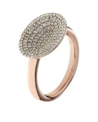 Links of London - Metallic Diamond Essentials Concave Ring - Lyst