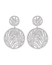 Theo Fennell | Metallic Palm Diamond Double Disc Earrings | Lyst