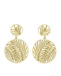 Theo Fennell | Metallic Palm Diamond Double Disc Earrings | Lyst