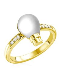 Theo Fennell | Metallic Light Bulb Ring | Lyst