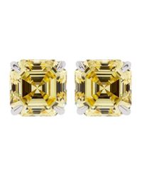 Carat* | Metallic Loyal Asscher Yellow Earrings | Lyst