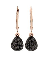 Links of London | Metallic Hope Black Diamond Drop Earrings | Lyst