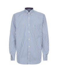 Paul & Shark - Blue Fine Stripe Shirt for Men - Lyst