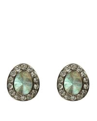 Annoushka - Green Dusty Diamonds Labradorite Stud Earrings - Lyst