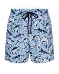 Vilebrequin   Blue Moorea Shark Swim Shorts for Men   Lyst