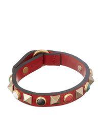 Valentino | Metallic Multi Stud Leather Bracelet | Lyst