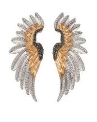 Bee Goddess - Metallic Diamond Wing Ear Cuffs - Lyst