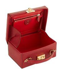 Mark Cross - Red Small Saffiano Grace Box Bag - Lyst