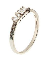 Suzanne Kalan - Metallic Baguette White Diamond Ring - Lyst