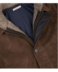 Peter Millar - Brown Steamboat Shearling Lined Leather Jacket for Men - Lyst