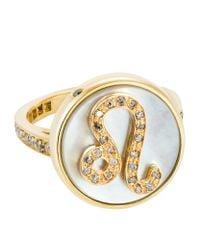 Carolina Bucci   Metallic Leo Lucky Zodiac Ring   Lyst